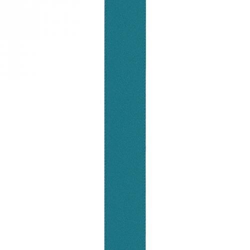 Ruban satin double face bleu canard 15mm