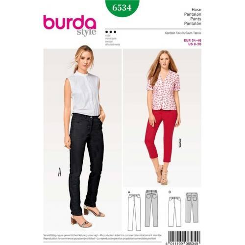 Patron Burda 6534 : Pantalon Taille 34-46