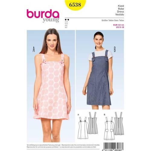 Patron Burda 6538 : Robe Taille 32-44