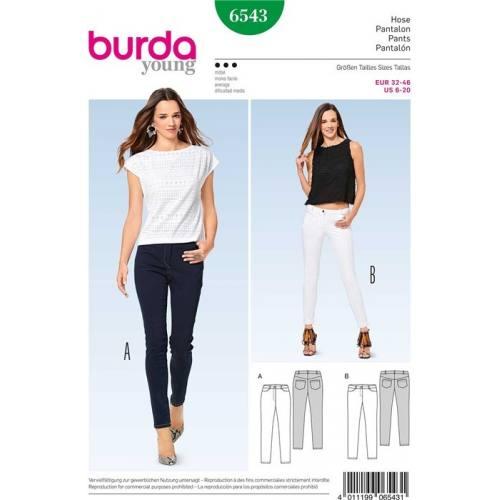 Patron Burda 6543 : Pantalon Taille 32-46