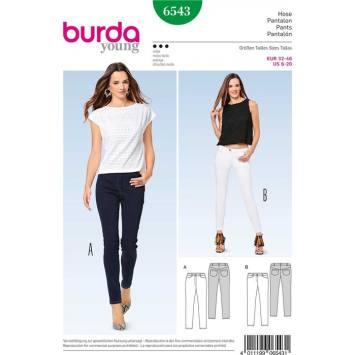 Patron Burda 6543 Pantalon Taille 32-46