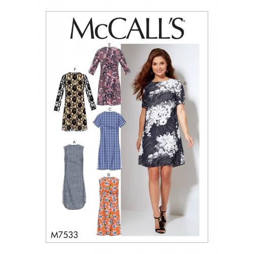 Patron Mc Call's M7533 : Robes pour jeune femme 46-52