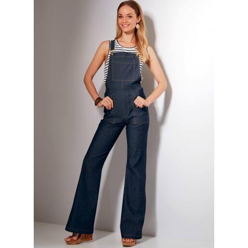 Patron Mc Call's M7547 Jeans et salopettes pour jeune femme Taille 42-50
