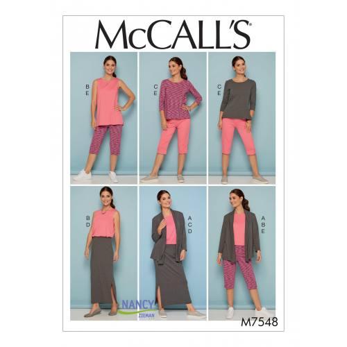 Patron Mc Call's M7548 : Ensemble pour jeune femme Taille 36-44