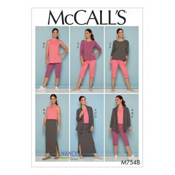 Patron Mc Call's M7548 : Ensemble pour jeune femme Taille 46-52