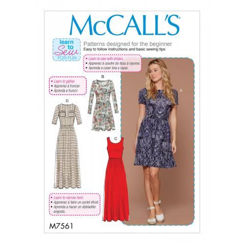 Patron Mc Call's M7561 : Robes pour jeune femme 44-52