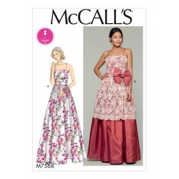 Patron Mc Call's M7568 Robes pour jeune femme 42-50