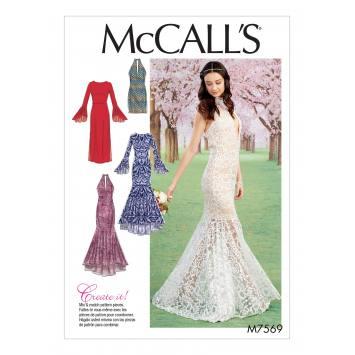 Patron Mc Call's M7569 Robes pour jeune femme 34-42