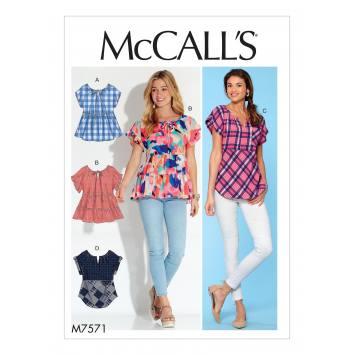 Patron Mc Call's M7571 Hauts pour jeune femme 34-42