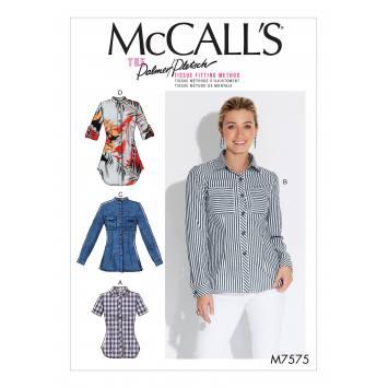 Patron Mc Call's M7575 Chemises pour jeune femme 36-42