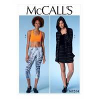 Patron Mc Call's M7514 Ensemble de sport pour jeune femme 32-42