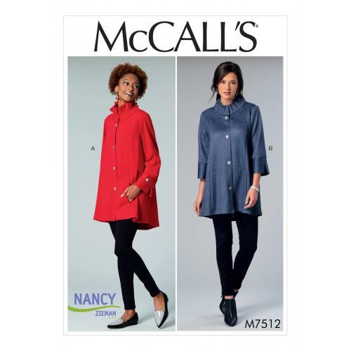 Patron Mc Call's M7512 : Vestes pour jeune femme 32-50