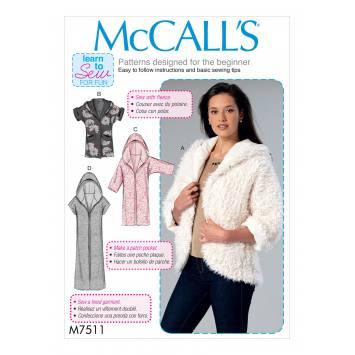 Patron Mc Call's M7511 Vestes pour jeune femme 44-52