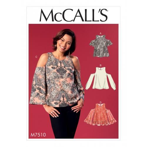 Patron Mc Call's M7510 : Hauts pour jeune femme 34-42