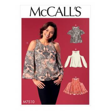 Patron Mc Call's M7510 Hauts pour jeune femme 34-42