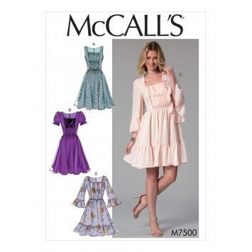 Patron Mc Call's M7500 Robes pour jeune femme 42-50