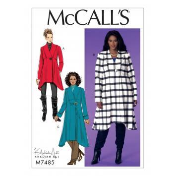 Patron Mc Call's M7485 Manteaux pour jeune femme 54-60