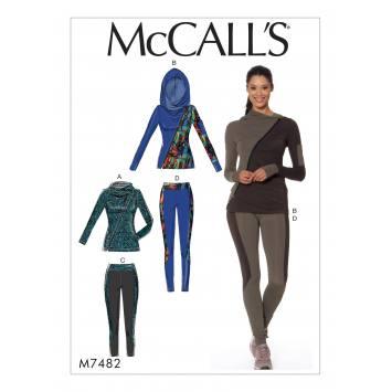 Patron Mc Call's M7482 : Ensemble de sport pour jeune femme 34-42