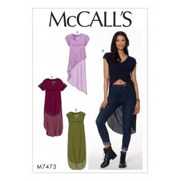 Patron Mc Call's M7473 : Tuniques pour jeune femme 42-50