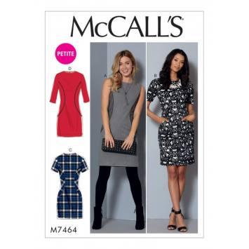Patron Mc Call's M7464 : Robe pour jeune femme 34-42