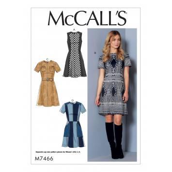 Patron Mc Call's M7466 : Robe et ceinture pour jeune femme 42-50