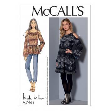 Patron Mc Call's M7468 : Tunique et robes pour jeune femme 42-50