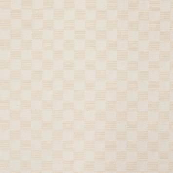 Jacquard piqué écru motif carré