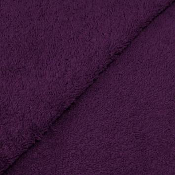 Tissu éponge prune