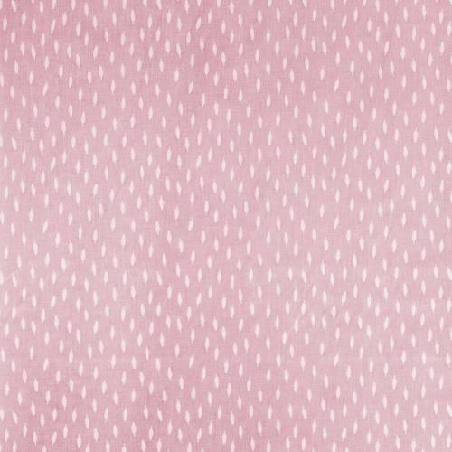 Coton rose clair imprimé petites plumes