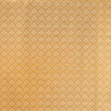 Coton ocre imprimé ethnique