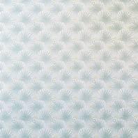 Coton motif palme verte et dorée