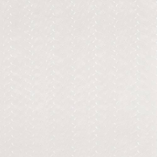 Broderie anglaise ivoire motif floral scintillant