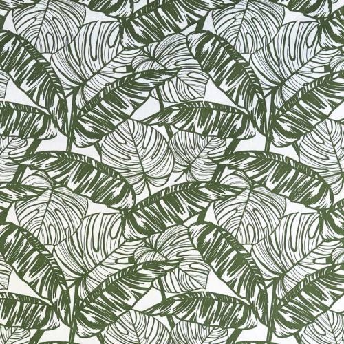 Coton imprimé feuille tropicale