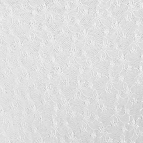 Dentelle extensible blanche motif fleuri