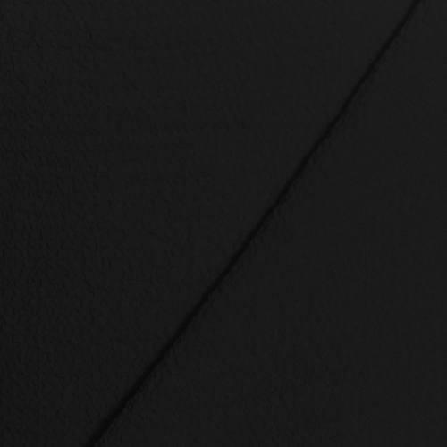 Tissu crêpe gaufré noir