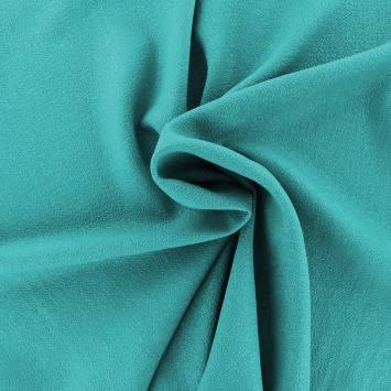 Tissu crêpe extensible turquoise