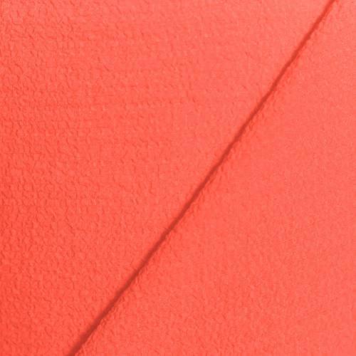 Tissu crêpe gaufré corail
