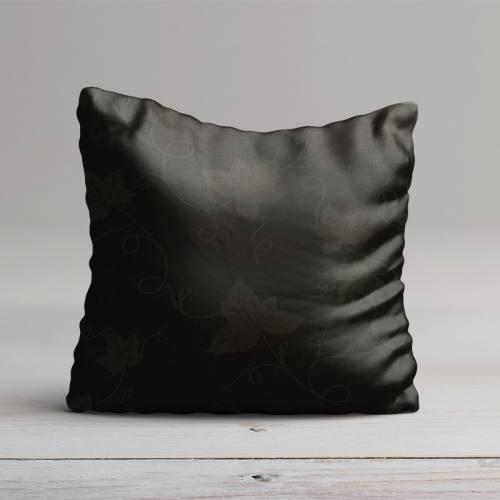 Tissu damassé noir grande largeur motif vigne
