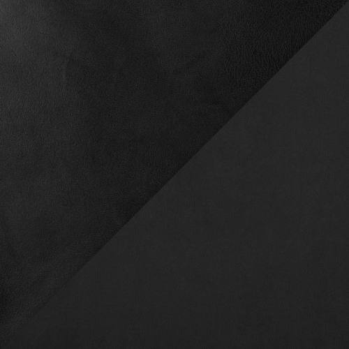 Simili cuir d'habillement noir envers suédine