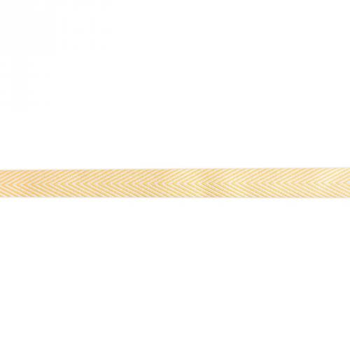 Ruban chevrons jaune blé 18mm