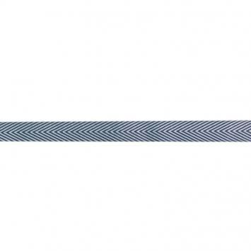 Ruban chevrons bleu marine 18mm