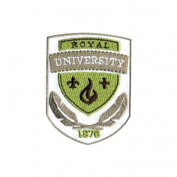 "Écusson brodé ""Blason Royal University"" thermocollant"