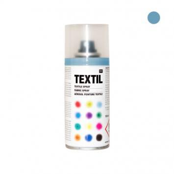 Bombe de peinture textile bleu clair 150ml