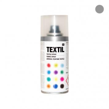 Bombe de peinture textile argentée 150ml