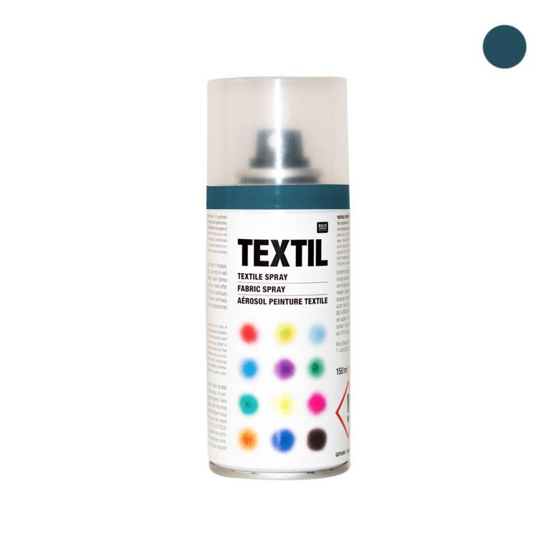 bombe de peinture textile bleu p trole 150ml pas cher tissus price. Black Bedroom Furniture Sets. Home Design Ideas