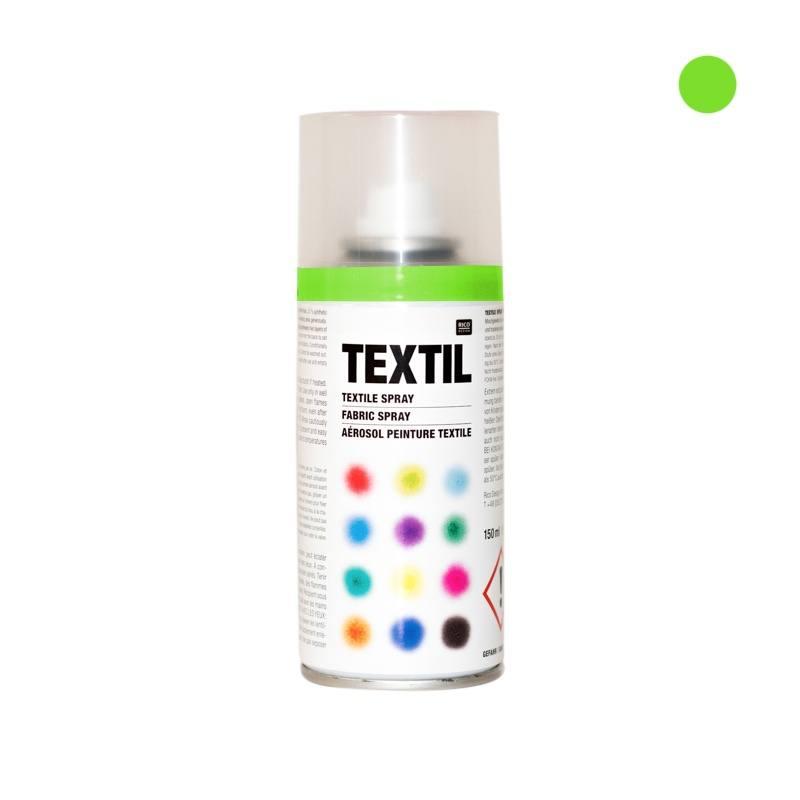Bombe de peinture textile vert fluo 150ml pas cher - Bombe peinture pas cher ...