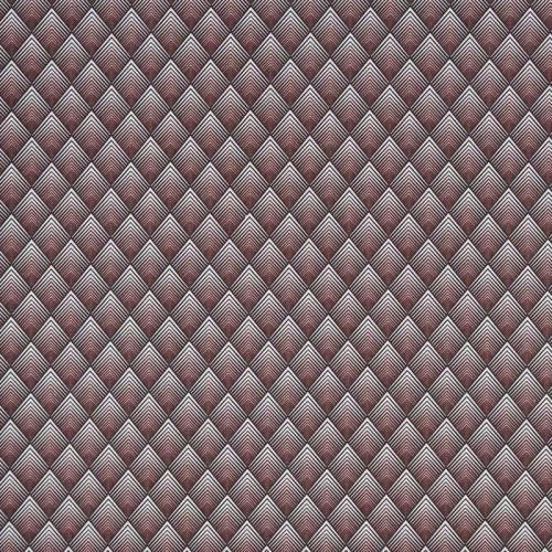 Coton marron et rose motif losange