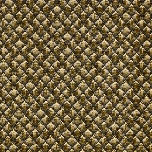 Coton jaune motif losange