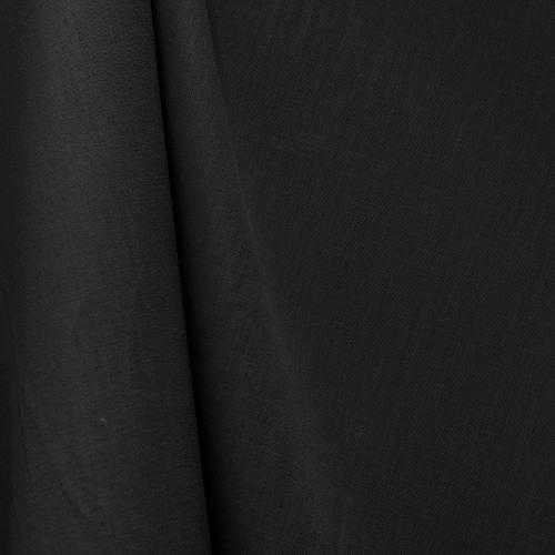 Tissu coton noir grande largeur