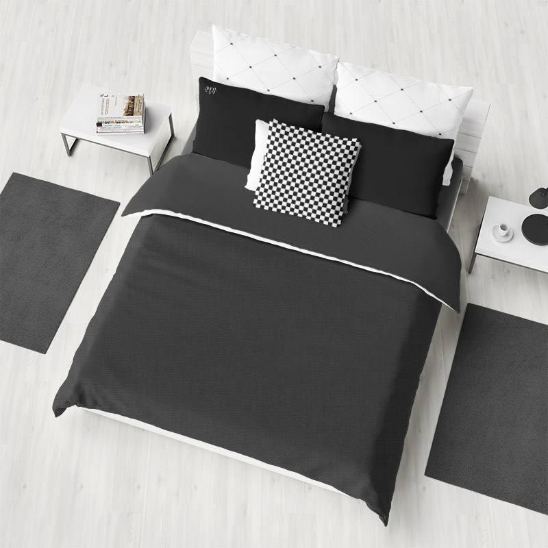 tissu coton noir grande largeur pas cher tissus price. Black Bedroom Furniture Sets. Home Design Ideas